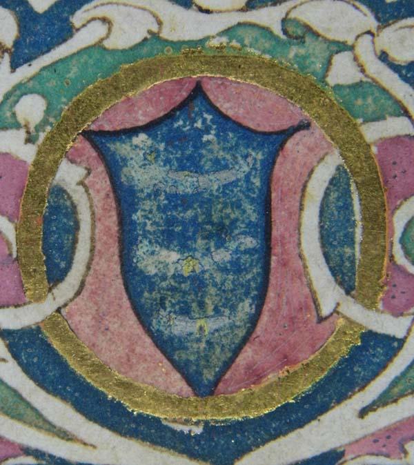 Effaced Guicciardini coat of arms