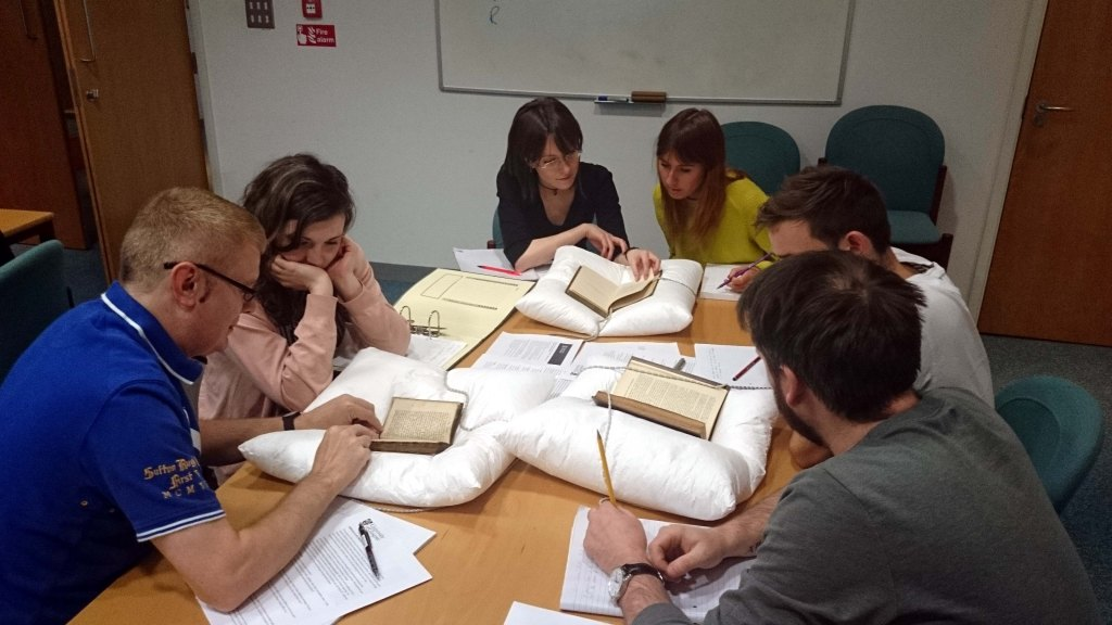 Early Modern History students working in Special Collections