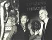 Sir Ian McKellen and Giles Havergal in front of Citizens Theatre sign. STA GHC 1/8