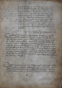 Page 1 of the Annals of the Faculty of Arts, 1451