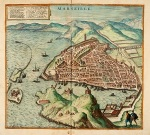 Map of Marseilles, 1575