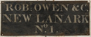 Comapny nameplate (Univresity of Glasgow Archive Services (UGD042/7/51/1)
