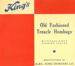 A King's Confectioners Humbug wrapper