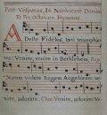 1750 manuscript copy of Adeste Fideles