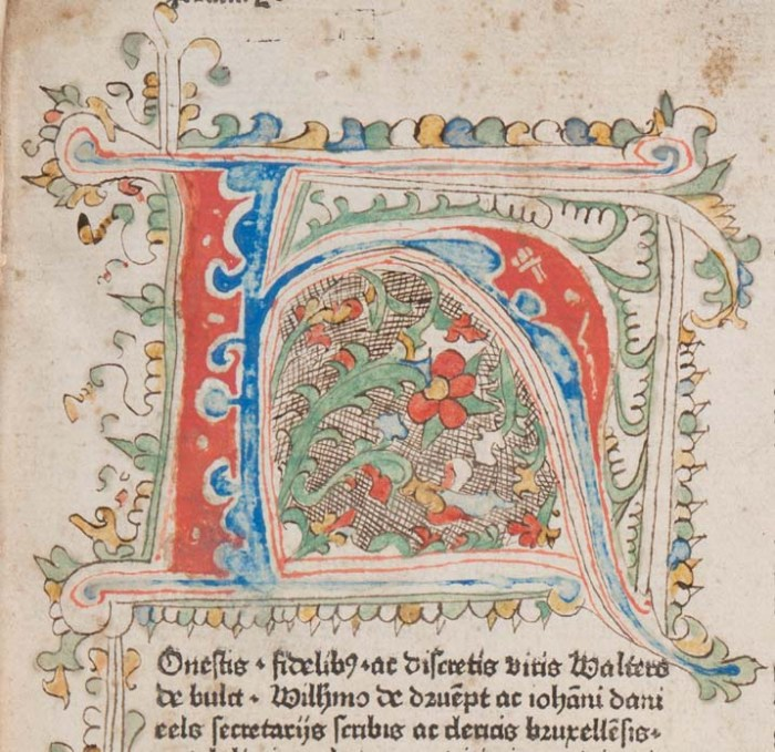 """Decorated initial """"H"""""""