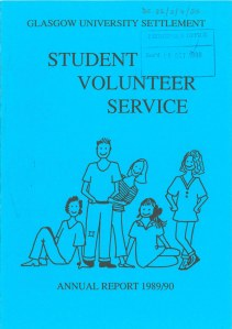 Student Volunteer Service Annual Report (1989-1990)