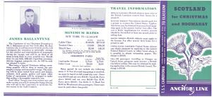 Brochure for a 1936 sailing to Scotland
