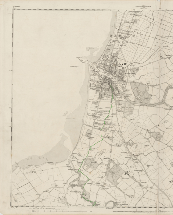 Ayrshire 1st Ed Route Taken