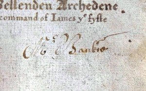 Autograph on titlepage (Sp Coll Bn6-d.18)
