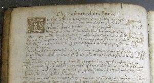 Handwritten facsimile contents leaf (Sp Coll Bn6-d.18)