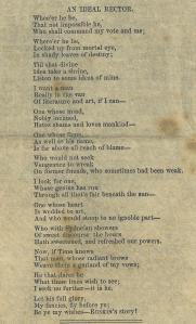 A poem named 'An Ideal Rector' from the 'College Liberal No.II', Rectorial Newsletter (Nov 1871)