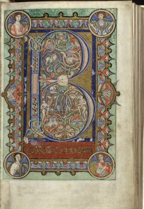 The Hunterian Psalter, folio 22r (MS Hunter 229)