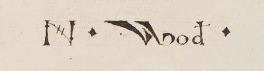 Ownership inscription in Pharetra doctorum et philosophorum (Sp Coll Hunterian Cm.1.2)