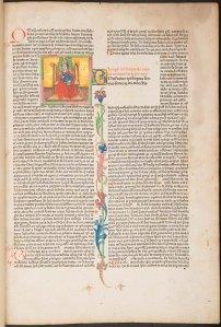 Illuminated miniature in Bonifacius VIII, Pont. Max.: Liber sextus Decretalium (Sp Coll BD9-a.11)