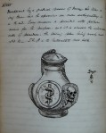 A detailed drawing of a bottle