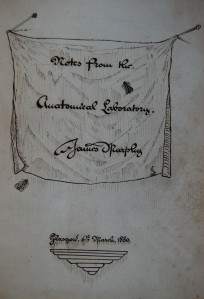 The Cover Page of James Murphy's Notebook