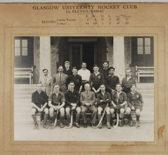 Glasgow University Hockey Club First XI team, 1940-1 (DC071/5/8)