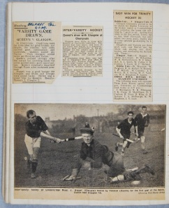 Press coverage of GUHC's games in Belfast and Dublin , 1947(DC071/6/3)