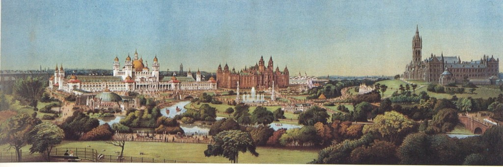 Panoramic view of Glasgow International Exhibition 1901. Fine Arts NS452 GLA2