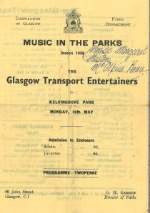 Glasgow Transport Entertainers, 26 May 1958. STA Fn 8/15b