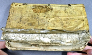Manuscript fragments visible in binding of Boyd (Sp Coll 732)