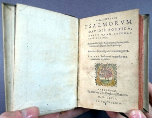 Plantin 1567 edition of Buchanan's Psalms (Sp Coll BC19-h.17)