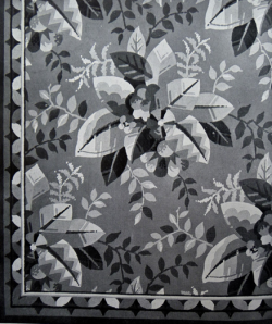 Figure 2 Illustration of carpet designed by David Taylor in British Textile Designers Today, 1939, from the Stoddard Design Library by permission of the Glasgow School of Art, Special Collections.