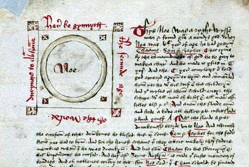 Section on Noah (manuscript - MS Hunter 83)