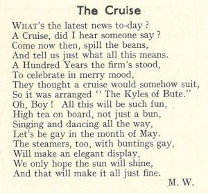 Poem about the trip, from the Templetonian magazine