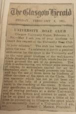 Cutting from GUBC scrapbook UGC078/2/1
