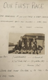 GUBC's first race, 1919, recorded in scrapbook no. 1, UGC078/2/1