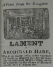 Lament of Archibald Hare