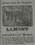 Lament of Archibald Hare