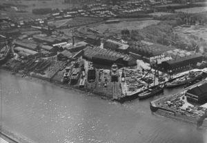 Simons-Lobnitz aerial view
