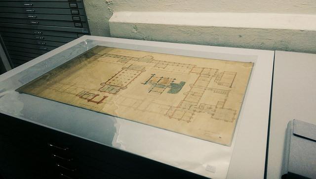 architectural plans for Gilmorehill
