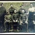 """6th Battalion Cameron Highlanders: Message on reverse: """"Lead Swingers, Ham Knappers, Turkey Stuffers & Horse Thieves. Alf – policeman in centre and the Beadle on his left."""" May 1918 (MS Gen 1376/11/14)"""