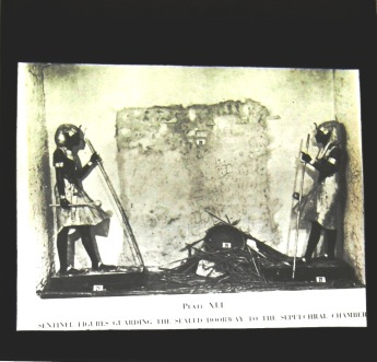Slide of Sentinel Figures Guarding the Sealed Doorway to the Sepulchral Chamber. (The location is not noted) (DC172/GES/15/A)