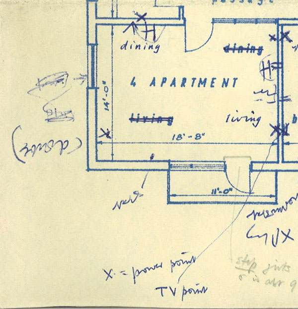 Annotated plan of flat