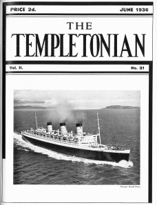 The Templetonian staff magazine from June 1936 with Queen Mary on the front