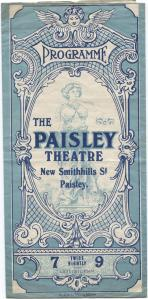 The little minister. The Paisley Theatre, Paisley, 1930 December 8. STA JLC 28/14
