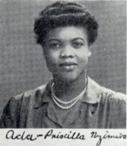Ada Priscilla Nzimiro, Final Year Medical Dinner book (DC225/1/47)