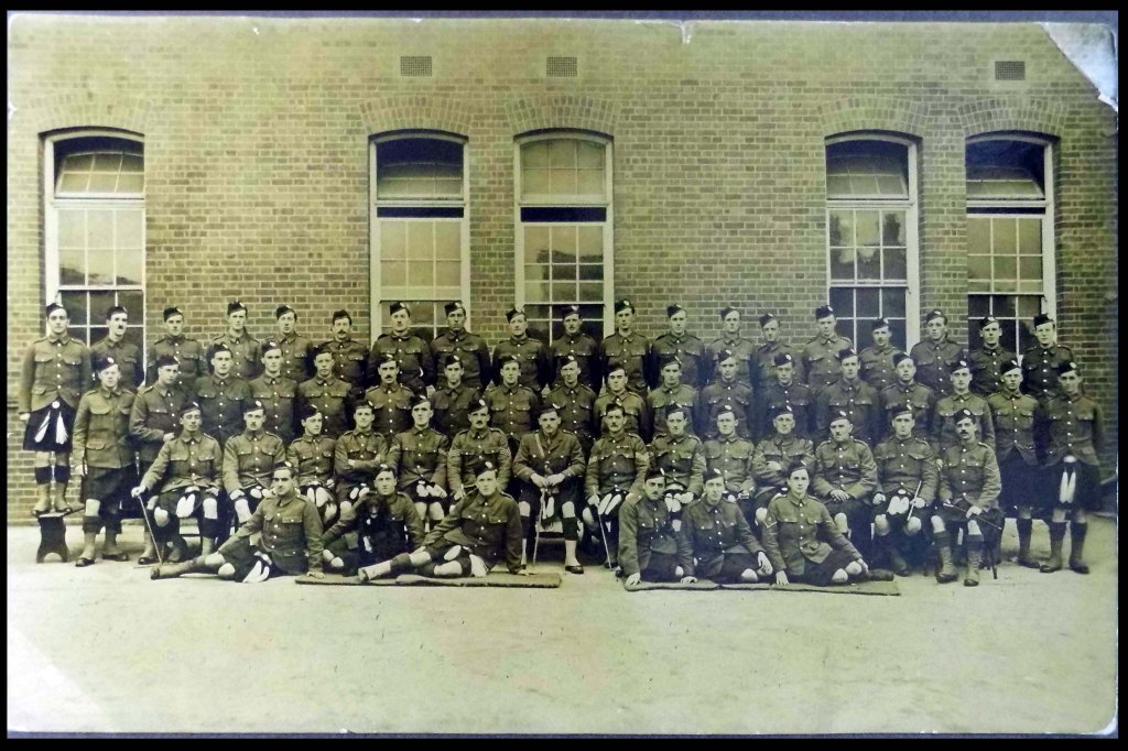 No. 5 Platoon, B Company, 6th Battalion, Queen's Own Cameron Highlanders. Basingstoke, Hampshire  March 1915 (MS GEN 1376/11/7)
