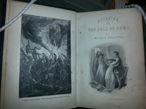 Titlepage & Frontispiece of Antonina; or the Fall of Rome. Sp Coll Z4-c. 1&2