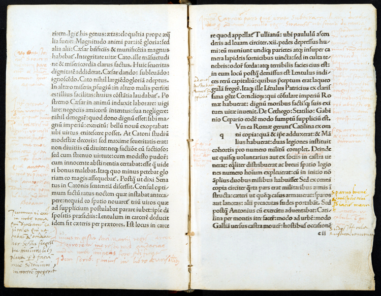 Marginalia in 1490 Sallust