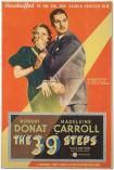John Buchan 1935 film poster for The 39 Steps