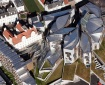 Aerial shot of the Scottish Parliament