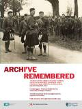 WW1 archive remembered poster