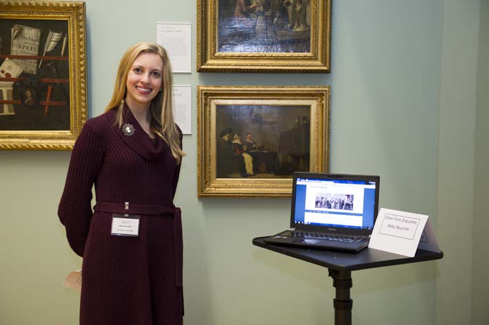 Current Hunterian Associate Abi Boucher demonstrates her Silver Fork Etiquette website