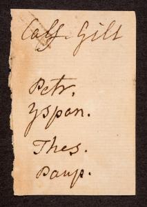 Note to binder, written in William Hunter's hand (Sp Coll Hunterian Bg.2.4)