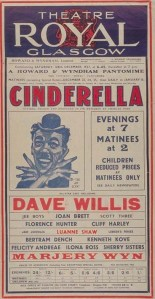 Dave Willis in Cinderella at the Theatre Royal, Glasgow. 1937. STA Cv 8/39